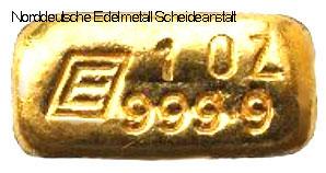 Engelhard-Unzenbarren-Gold