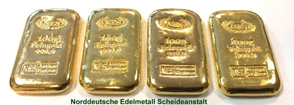 Goldbarren-100g-Feingold-9999-Norddeutsche-ES