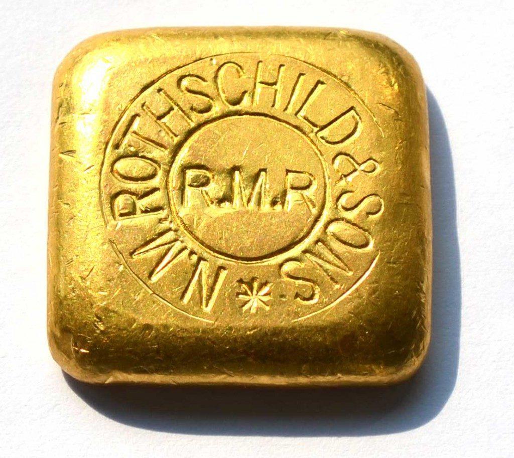 50-Gramm-Rothschid-Goldbarren-historisch