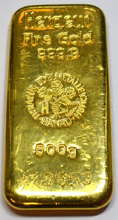 500-Gramm-Gold Heraeus