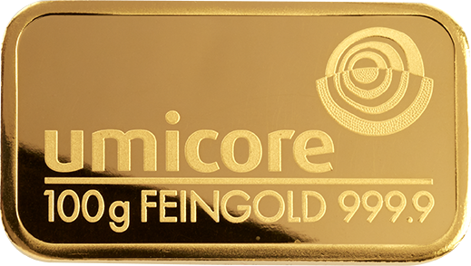 Umicore 100g Gold