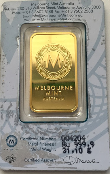 Australien-Kangaroo-Gold 1oz-9999