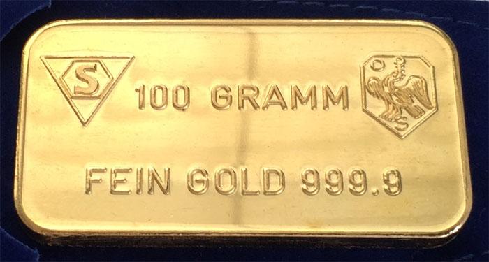Gold 100g S.B.V.