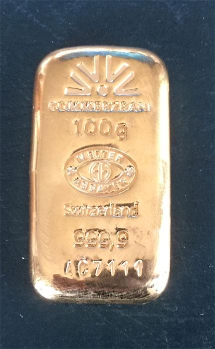 Gold 100g-Arg.Heraeus