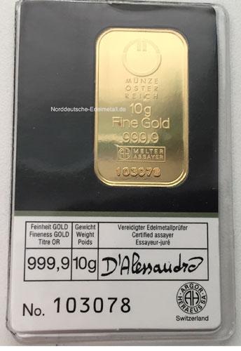 Gold 10g Oesterreich