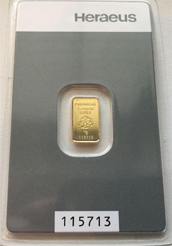 Gold 1g Heraeus