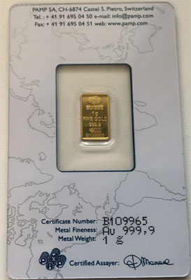Gold 1g PAMP