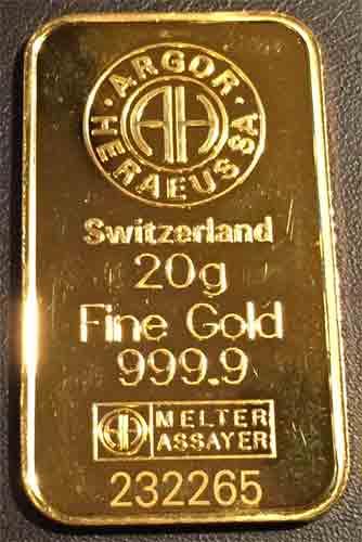 Gold 20g Arg./Heraeus