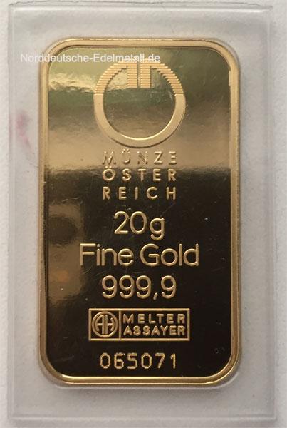 Gold 20g Oesterreich