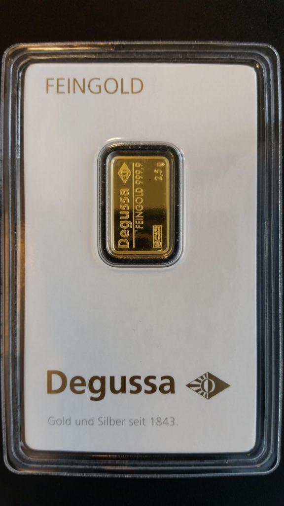 Gold 2_5g Degussa