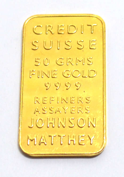 Gold 50g Johns.Matthey