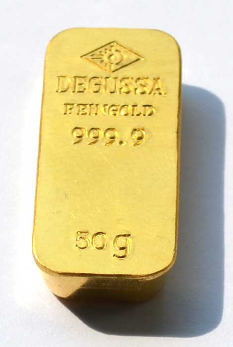 Gold 50g alte Degussa