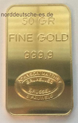 Gold 50g J.-Matthey
