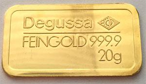 Goldbarren-Degussa-20g-Feingold-9999
