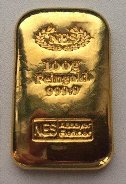 Goldbarren-Norddeutsche-ES-100g-Feingold-9999
