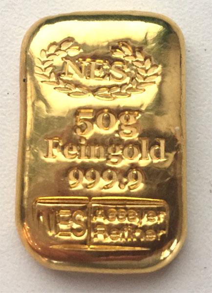 Goldbarren-Norddeutsche-ES-50g-Feingold-9999