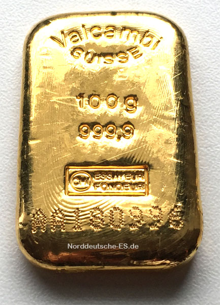 Goldbarren-Schweiz-Valcambi-100-Gramm-gegossen