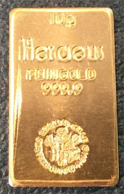 Heraeus-Gold 10g