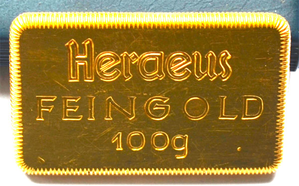 Heraeus-Historisch-100-Gramm9999