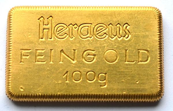 Historischer-Heraeus-Barren-100-Gramm