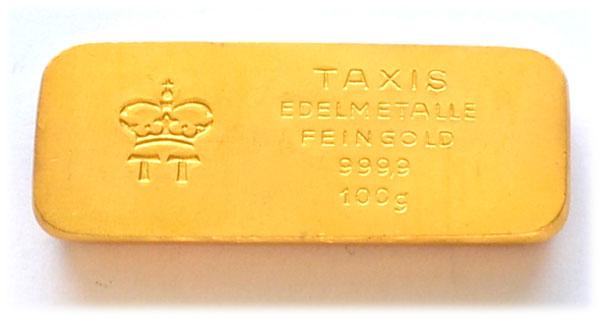 Hstorischer-Taxis-Goldbarren-100-Gramm-9999
