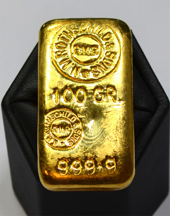 Rothschild-Goldbarren-100-Grammm