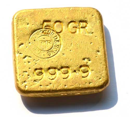 Ankauf von Goldbarren