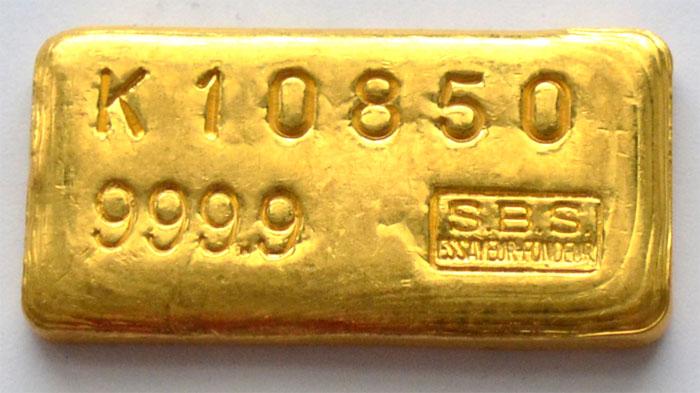 Societe Banque Suisse-100-Gramm-Goldbarren-historisch