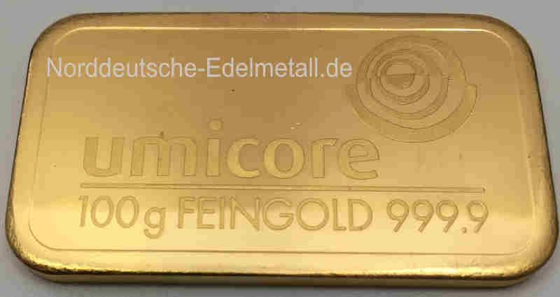 Umicore-Feingoldbarren-100-Gramm