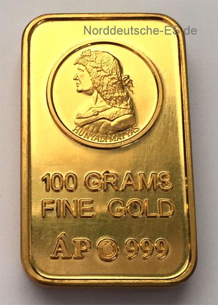 Ungarn-Goldbarren-999-100g