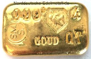 Schoene Goldbarren-100g-Feingold-9999