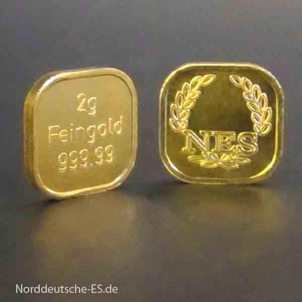 Gold Fakten 2-g-Goldbarren-Superfeingold-999.99-Norddeutsche-ES