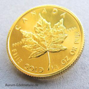 Anlagemuenze Canada-1_4-Unze-Gold-Maple-Leaf
