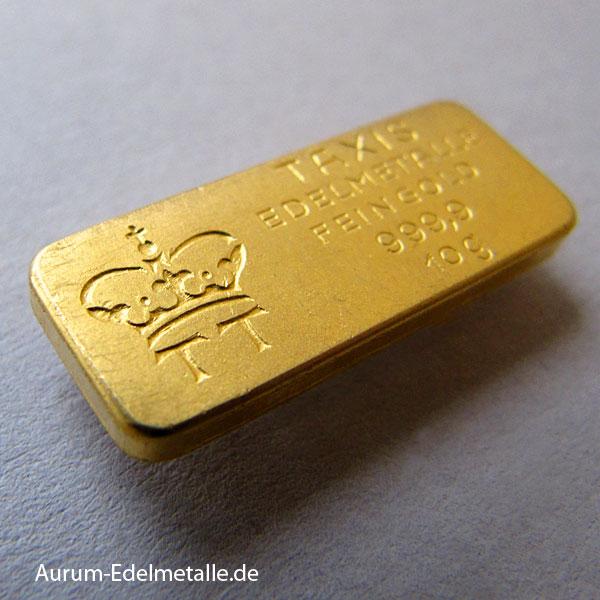 Goldbarren-10g-Feingold-9999-Thurn-und-Taxis