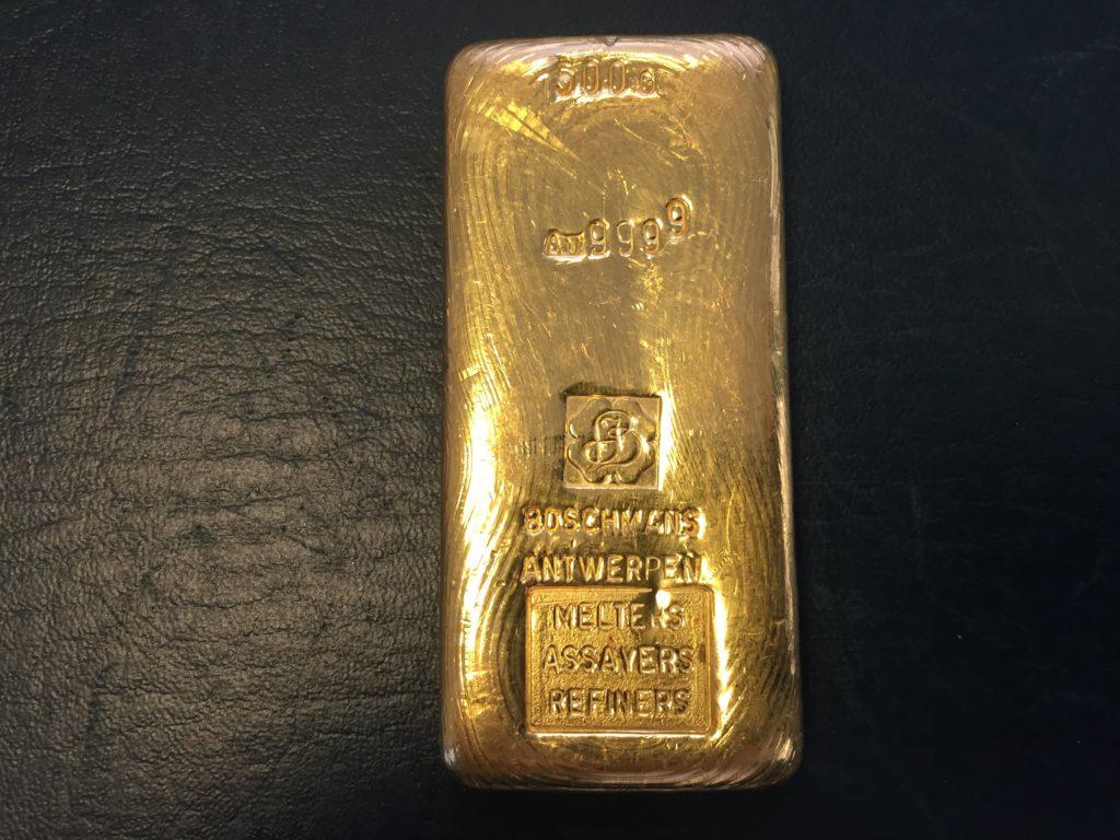 Goldbarren 500g Boschmans Antwerpen